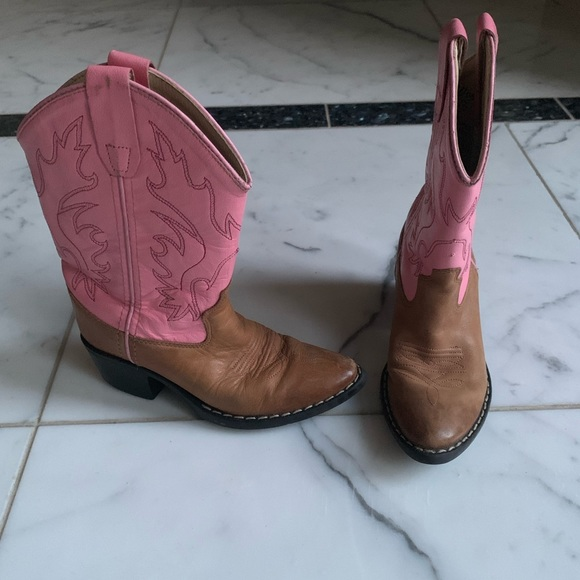 b969adb17e7 Toddler Girls Pink Cowgirl Boots Old West
